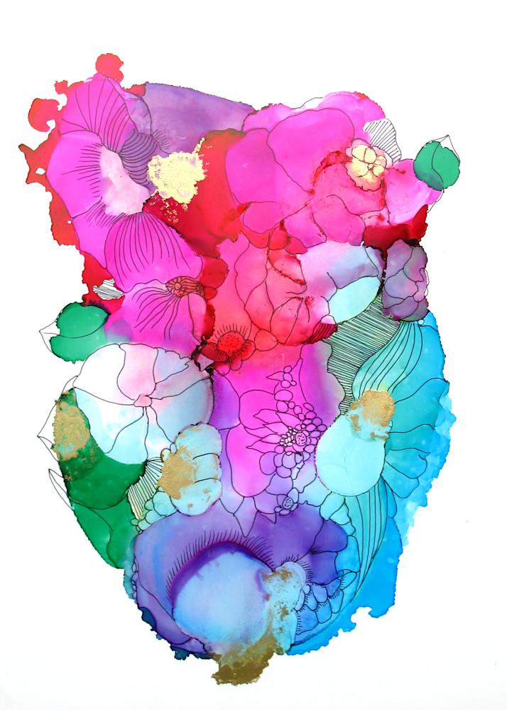 Plush Floral With Gold 4 Art | Sandy Smith Gerding Artwork