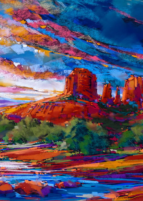 Cathedral Rock Sky  Art | Michael Mckee Gallery Inc.