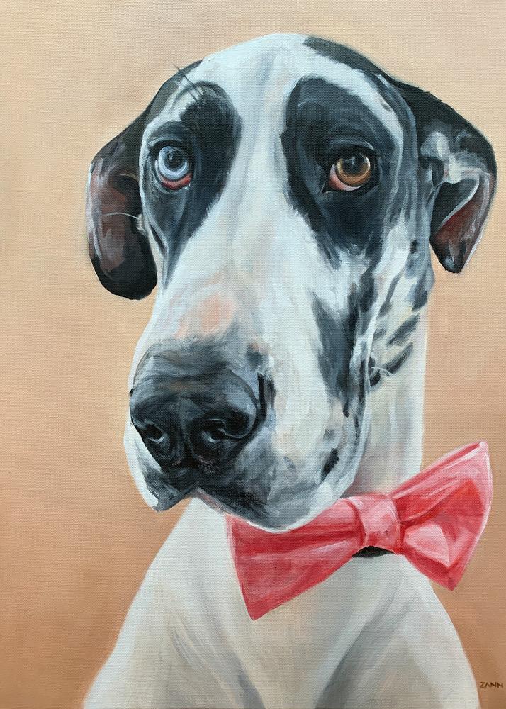 Harlequin Great Dane Art | Van Isle Dog Art