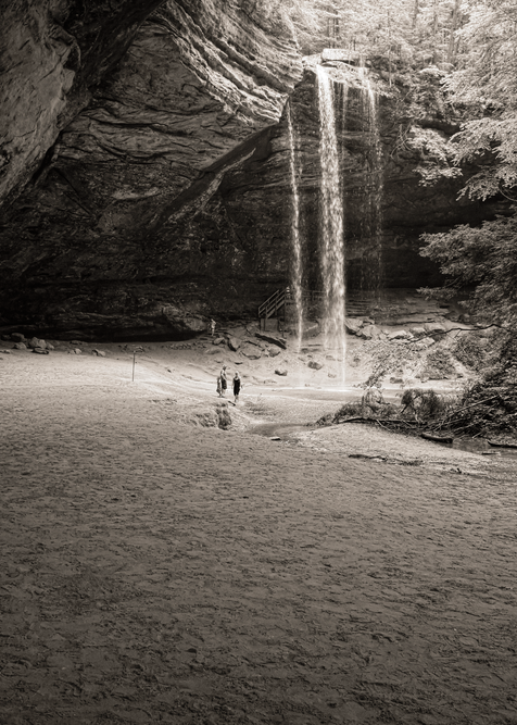 Ash Cave Waterfall Bw Photography Art | Eric Hatch