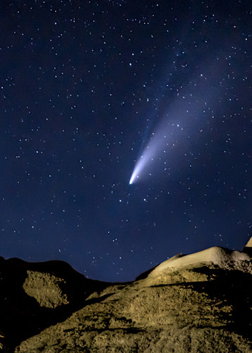 Comet Over Bisti I I Photography Art | Peter Batty Photography
