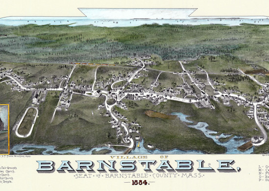 Barnstable Village 1884 Art | Frame Center