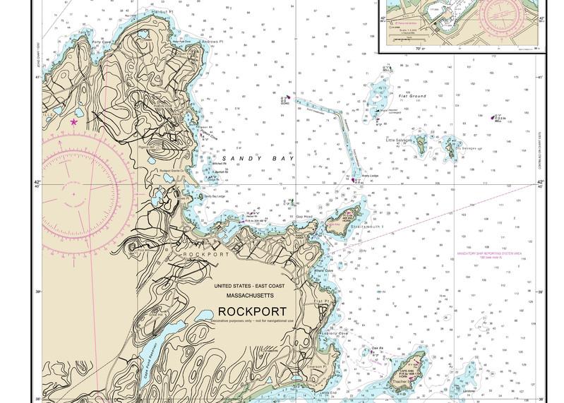 Rockport Nautical Chart