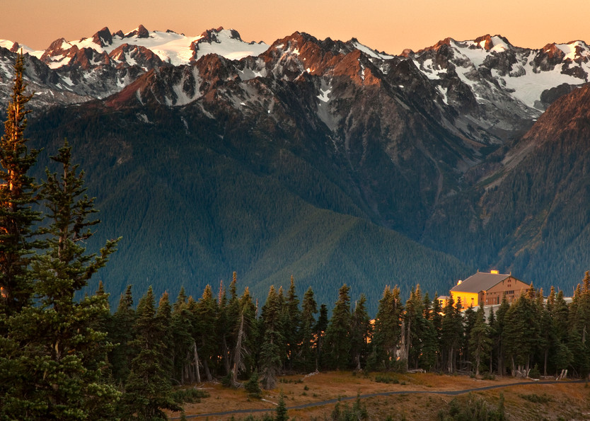 Sunrise at Hurricane Ridge in Olympic National Park