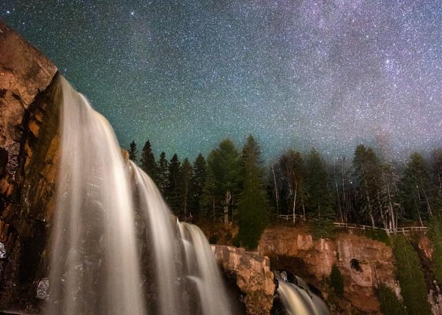 Gooseberry Falls Under the Milky Way