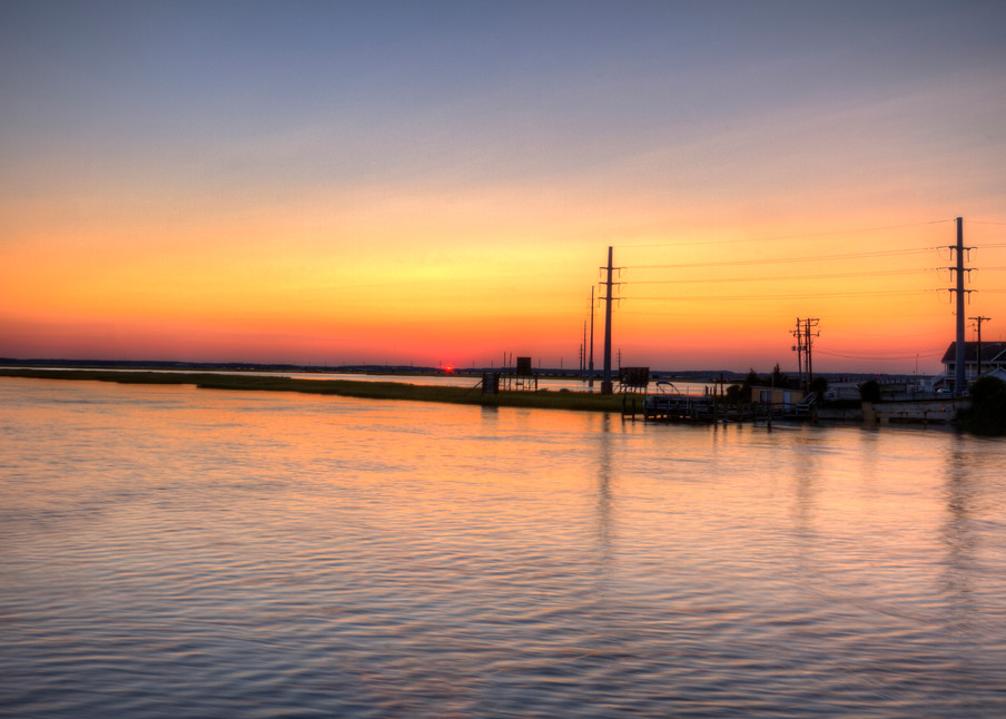 Fine Art Photographs of Chincoteague Sunset by Michael Pucciarelli