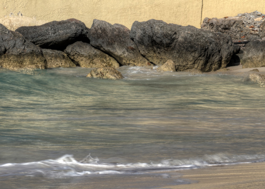 A Fine Art Photograph of Rocky Shores in Nassau by Michael Pucciarelli