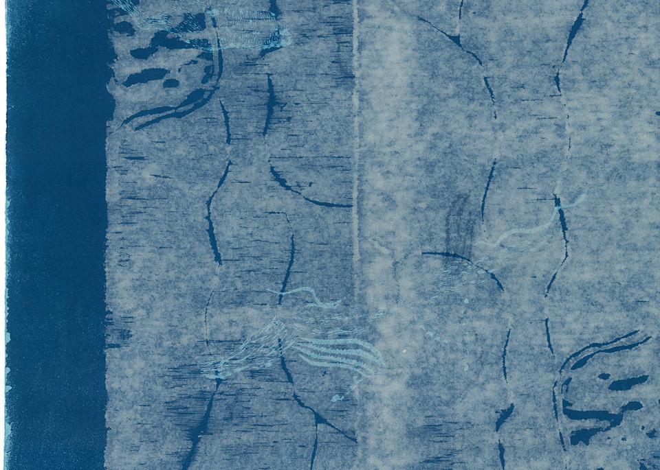 Winter Trees Woodblock  Art | capeanngiclee