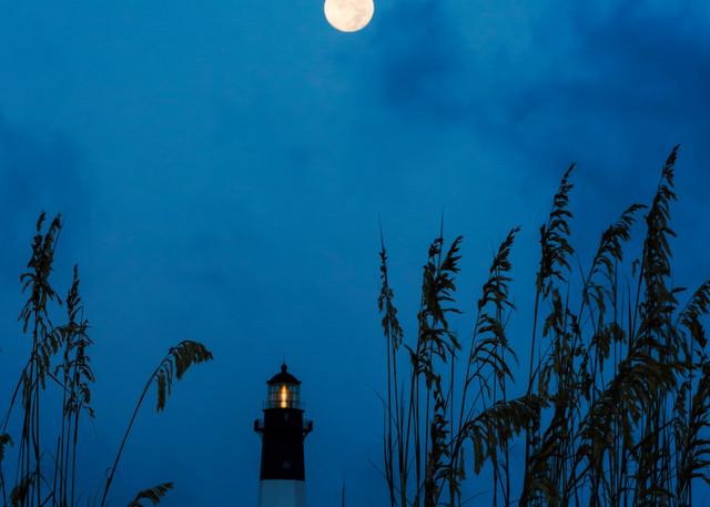 Blue Moon Over Tybee Light