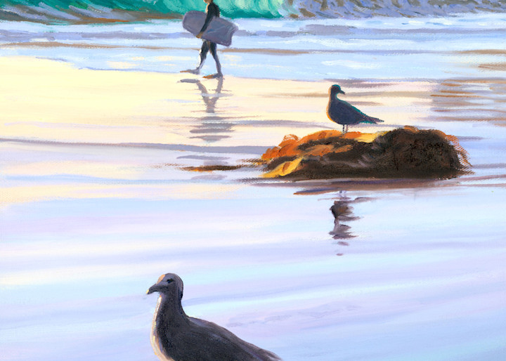 Boogie Boarder and Birds