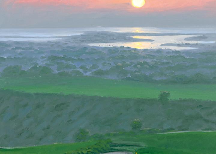 Pelican Hills Golf Club at sunset