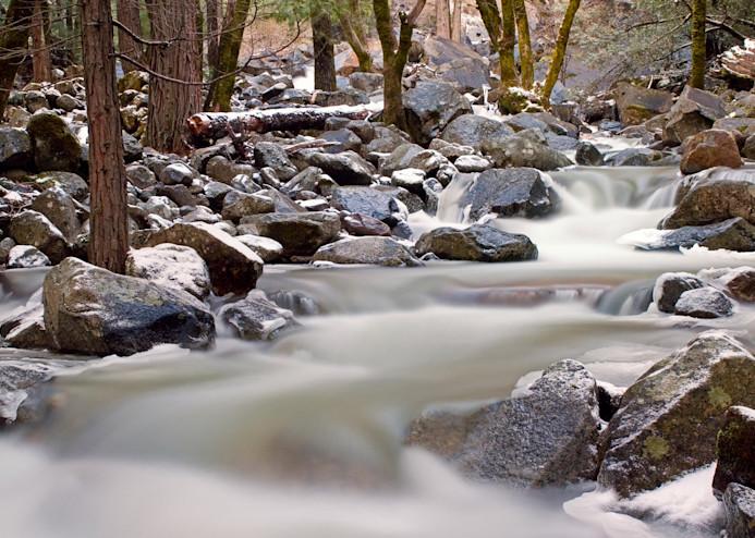 Bridalveil Creek in Winter