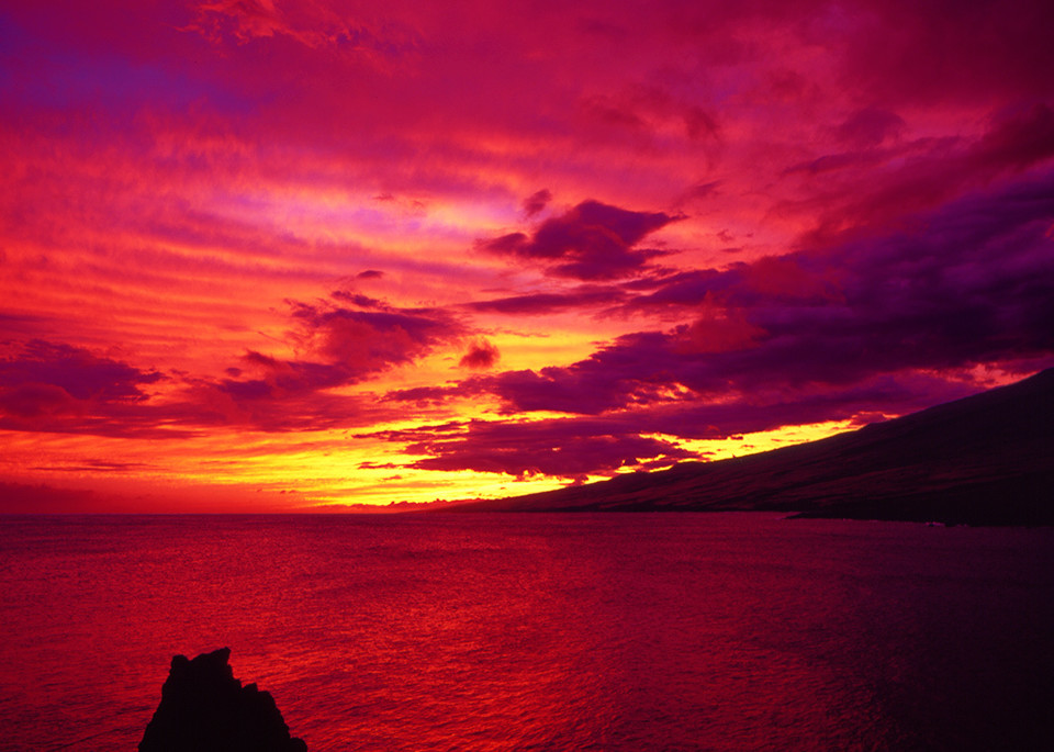 Hawaii Sunset Art   Fine Art New Mexico