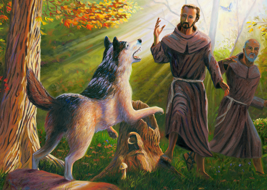St. Francis of Assisi Taming the Wolf