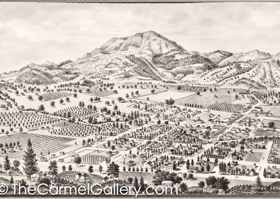 Calistoga and Mt St Helena 1888