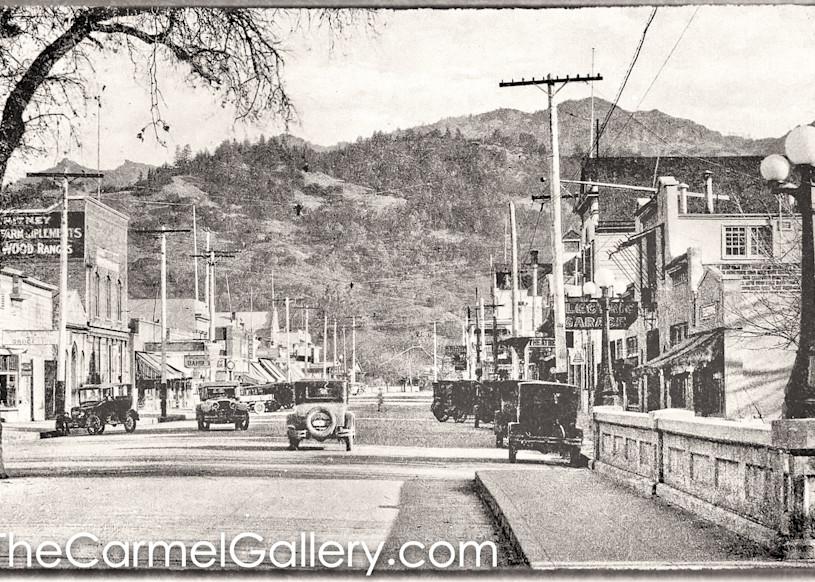 Lincoln Ave Bridge Calistoga 1930's