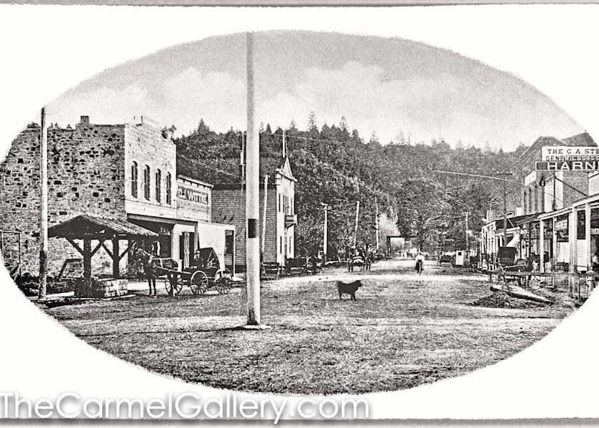 Lincoln Ave Calistoga 1870's