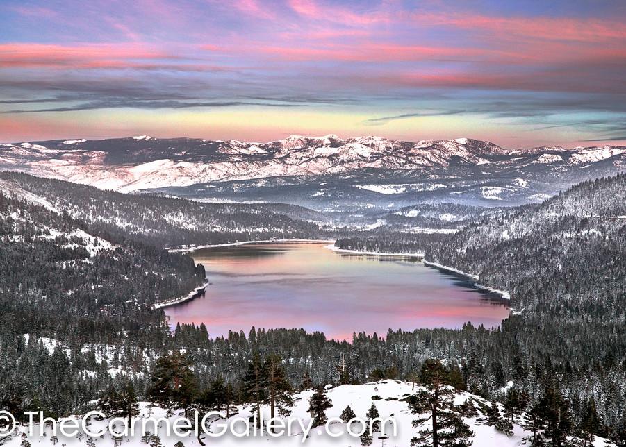 December Sunset Donner Lake