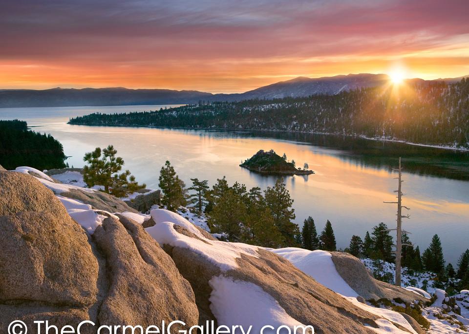 November Sunrise Emerald Bay