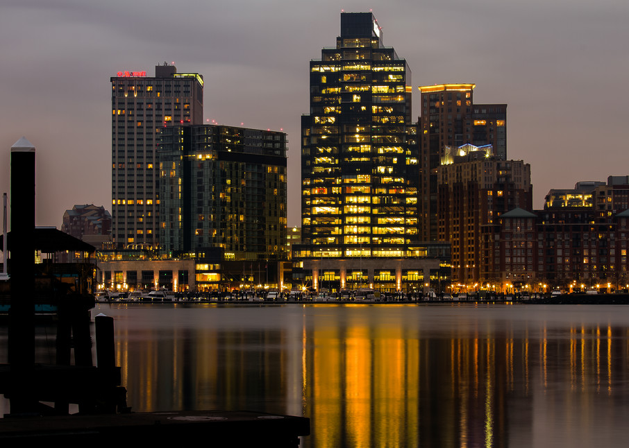 Fine Art Photograph of Baltimore Reflection by Michael Pucciarelli