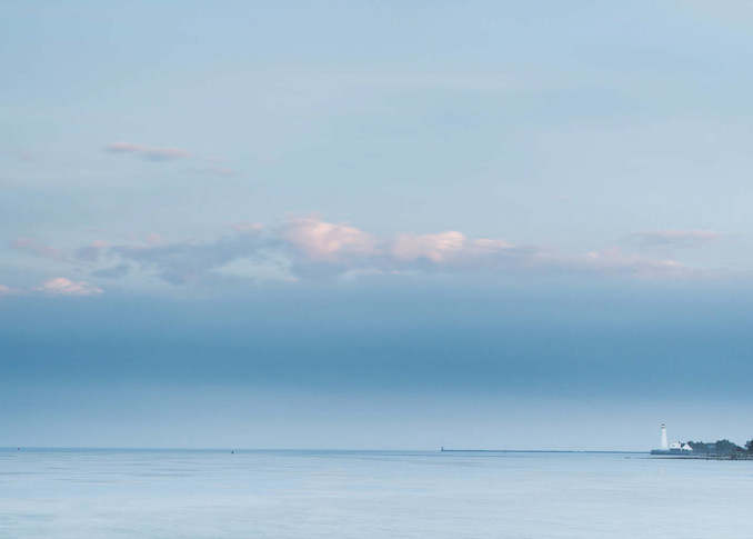 This Peter Wnek photograph called Fenwick Blue is a serene image of the Connecticut coast in Old Saybrook CT.