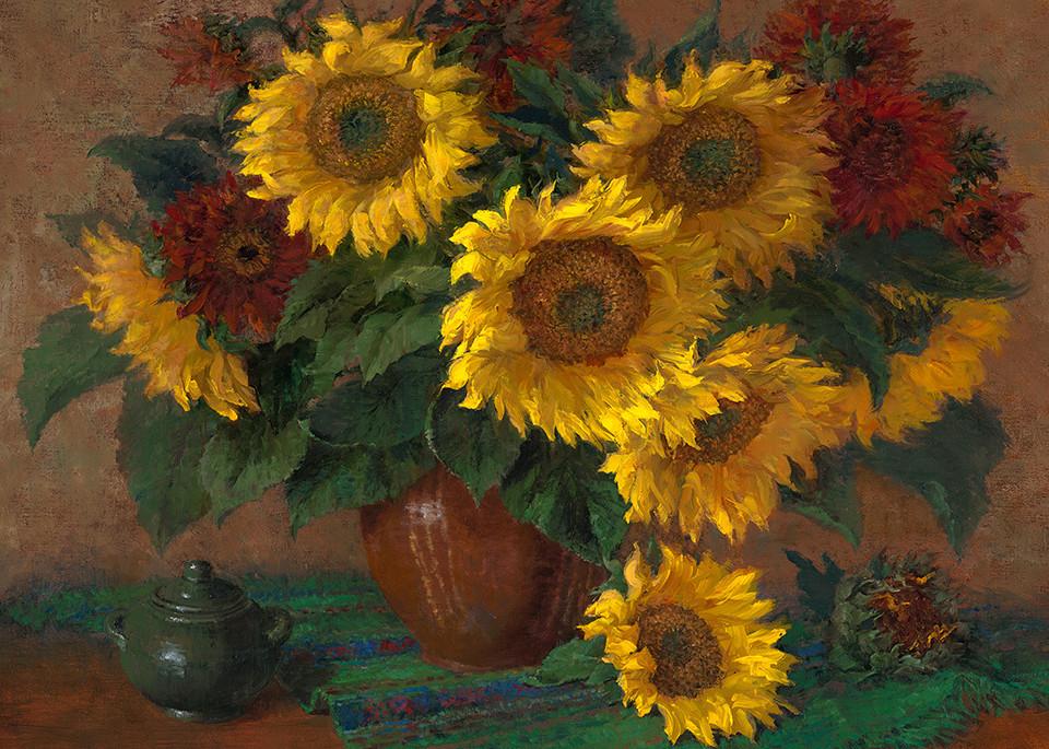 Mammoth Sunflowers in Vase, Jo Anna Arnett