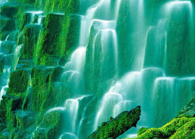 Green Waterfalls Steps Art | Fine Art New Mexico