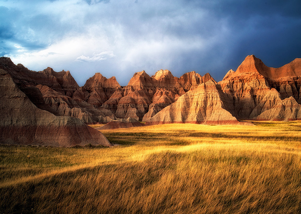 Grass Meadow In Badlands National Park Art | Fine Art New Mexico