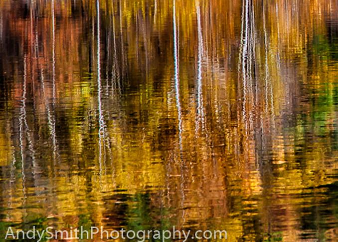 Fall Reflection on the Lackawaxen  fine art photograph