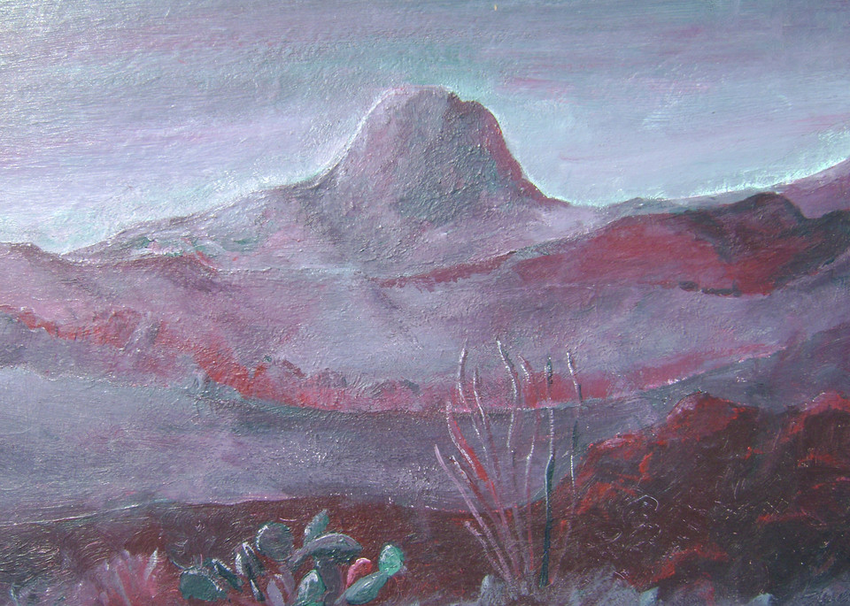 Santiago Peak from Black Hills Gray