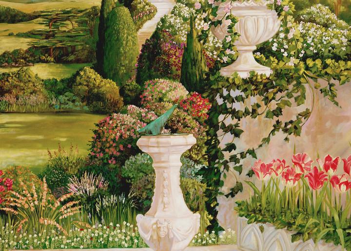 English Garden 3   Murals in Classical Style   Gordon Meggison IV