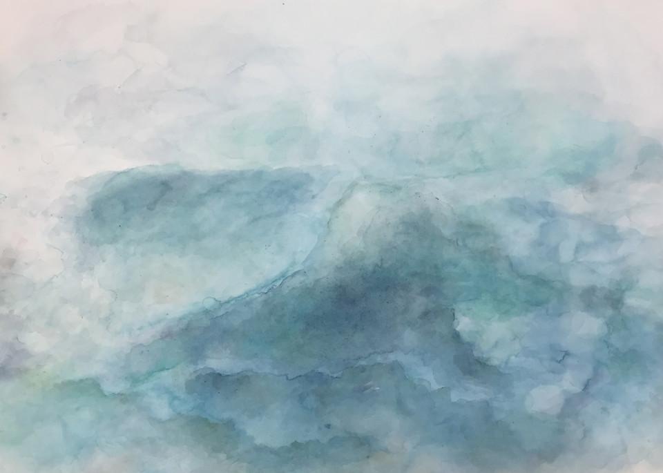 Calm Seas - Contemporary Abstract Landscape Painting | Samantha Kaplan