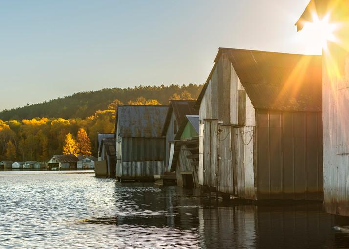 Autumn sunrise at the Stuntz Bay Boathouses
