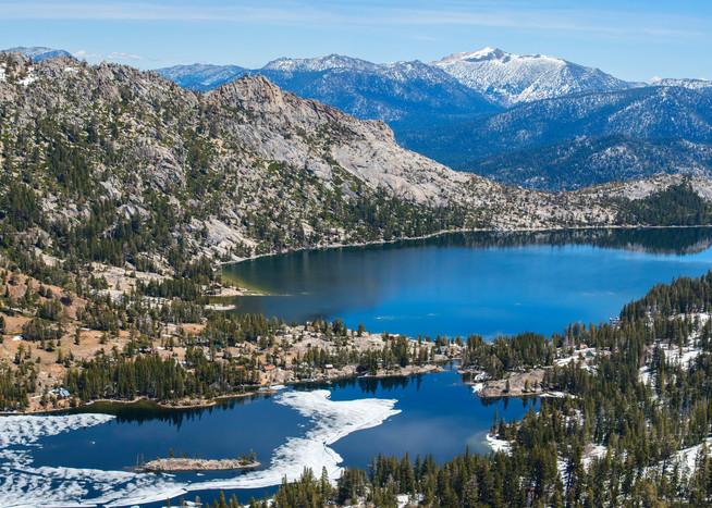 Echo Lake Aerial Panoramic print by Brad Scott