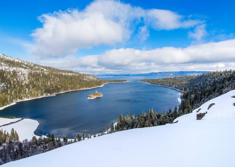 Emerald Bay Slopes, Lake Tahoe Winter Photograph print