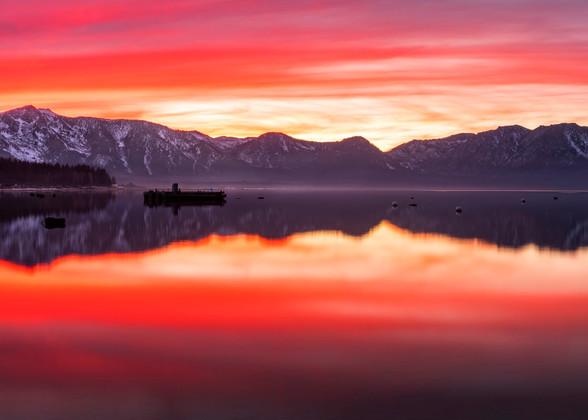 Tahoe Aglow, Lake Tahoe sunset print by Brad Scott