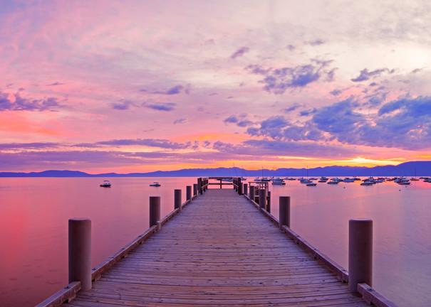 Morning pier Lake Tahoe Print