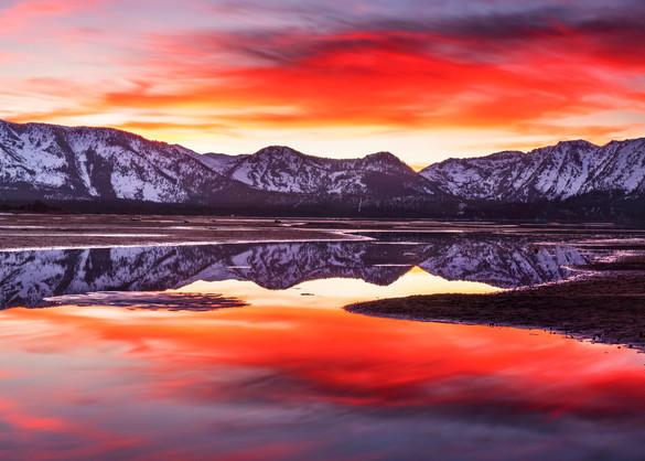 Tallac aglow Lake Tahoe print by Brad Scott