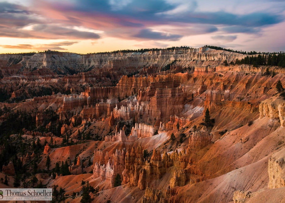 Bryce Canyon amphitheater at Sunrise fine art prints/stunning National Park prints by Thomas Schoeller