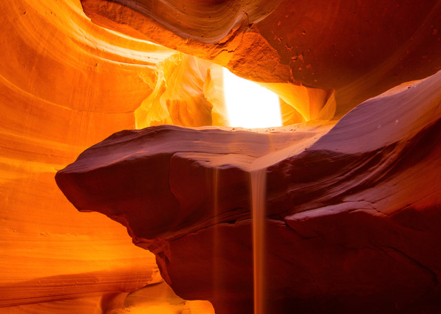 hungry for more, antelope canyon, sand falls