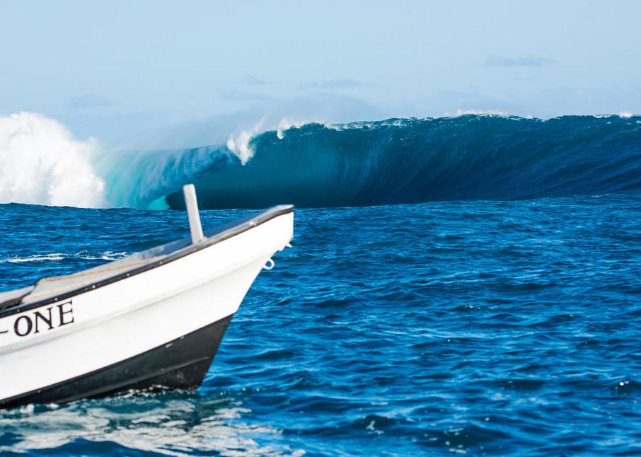 Tani One Cloudbreak , Fiji Surf Art Print by Brad Scott