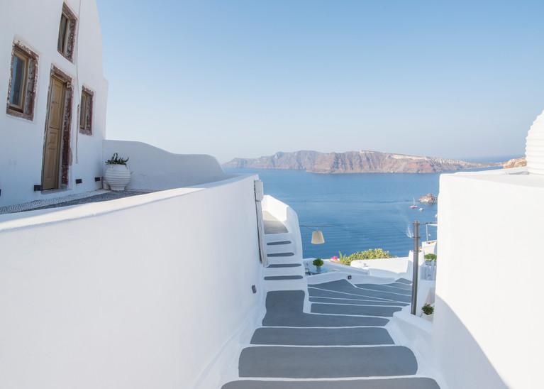 Oia Stairs, Santorini Greece Fine Art Photo Print by Brad Scott