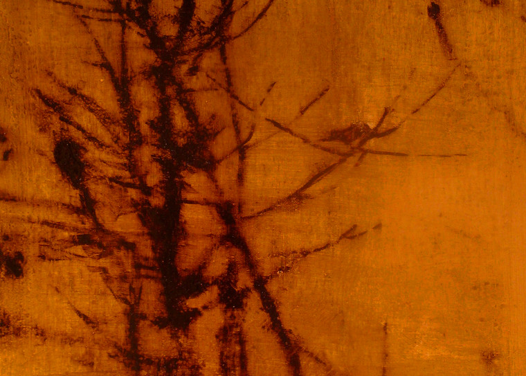 huntzinger art bare branches with birds