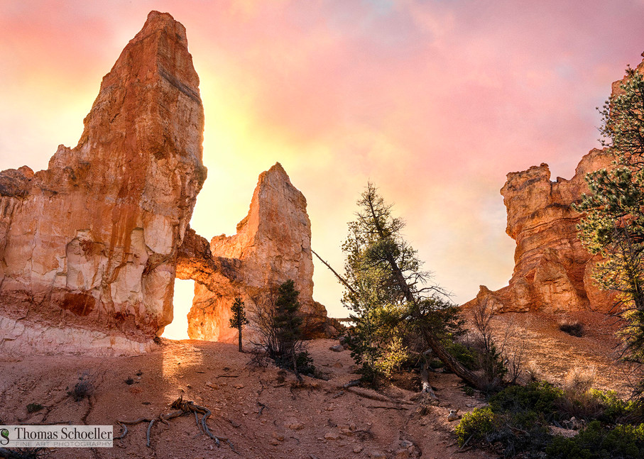 Bryce Canyon NP Tower Bridge Arch/Luxury Fine Art photography prints by Thom Schoeller