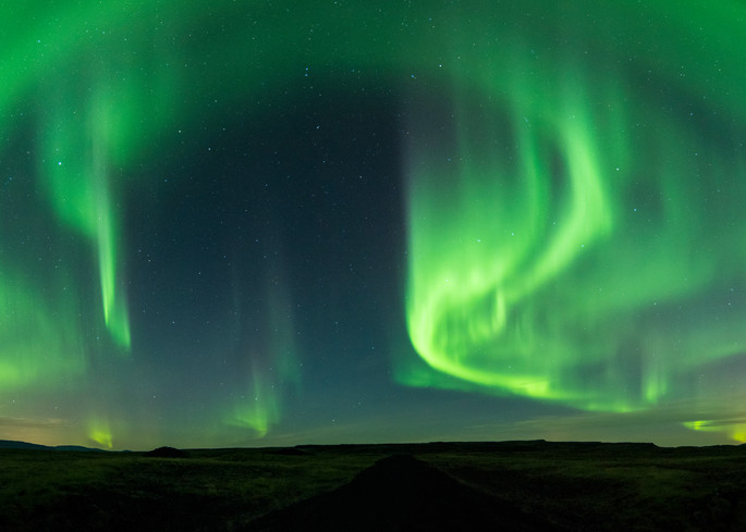 Northern Lights over South Iceland
