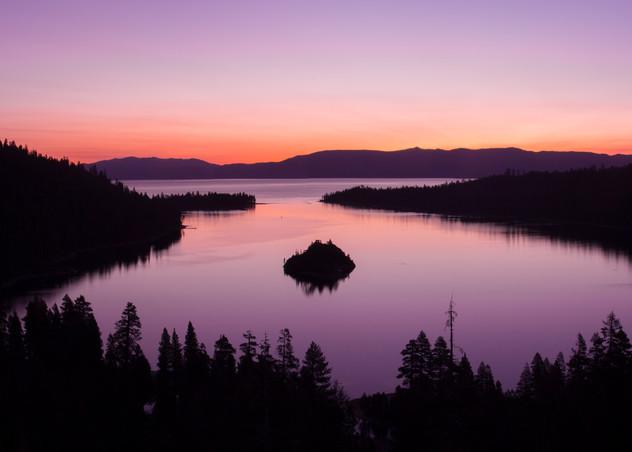 Emerald Bay Sunrise Panorama Photo Art Print