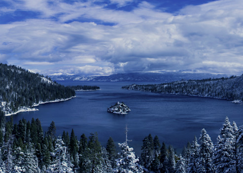 Emerald Bay First Snow, Lake Tahoe Photograph Art