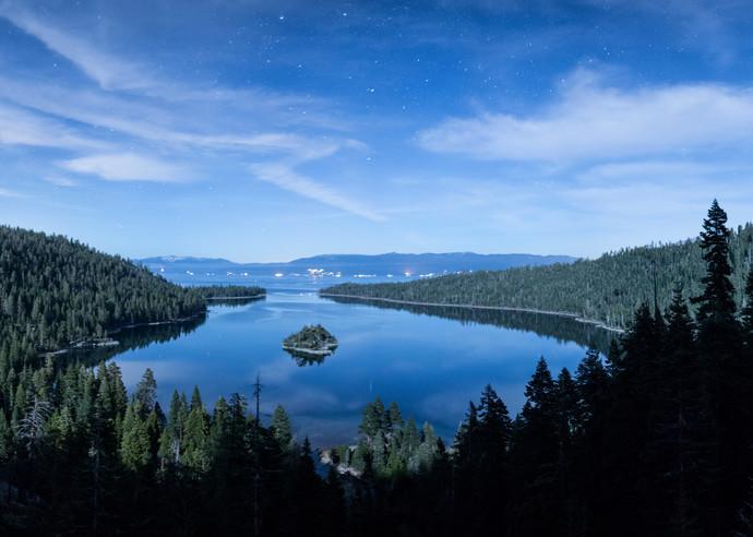 Emerald Bay Stardust, Lake Tahoe Photography Art Print