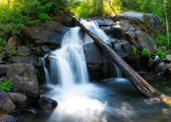 Secret Falls, Lake Tahoe waterfall panorama photo