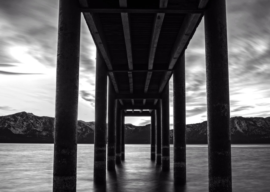 Under the Dock of the Lake, Tahoe Photo Print